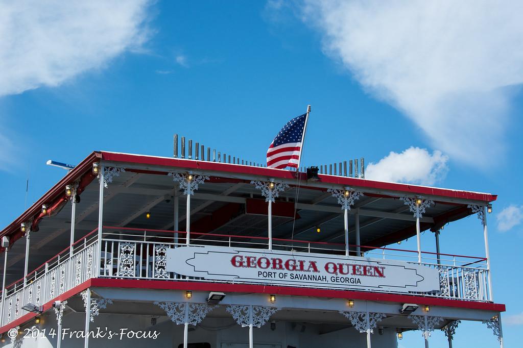 April 13, 2014 -- Georgia Queen riverboat in Savannah, GA