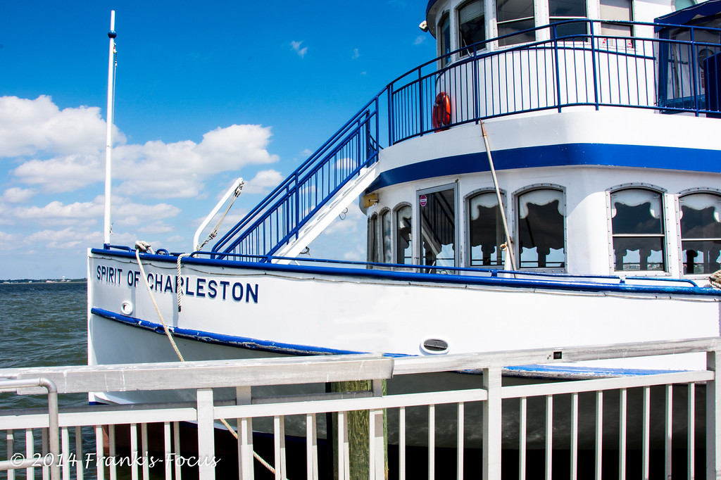 """April 11, 2014 -- Bridge of """"Spirit of Charleston"""", tour boat that runs between Patriots Point, in Mt. Pleasant, SC and Old Fort Sumter"""