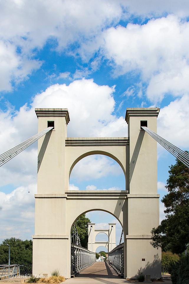 May 20, 2017 -- Waco Suspension Bridge Entrance