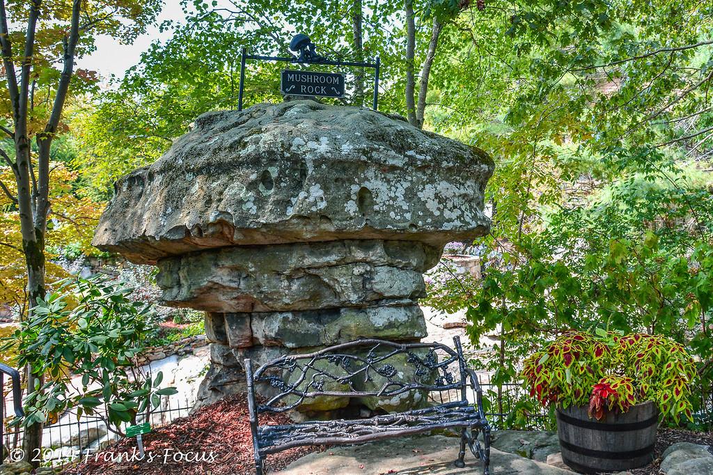 April 5, 2014 -- Mushroom Rock at Rock City, near Lookout Mountain, Georgia