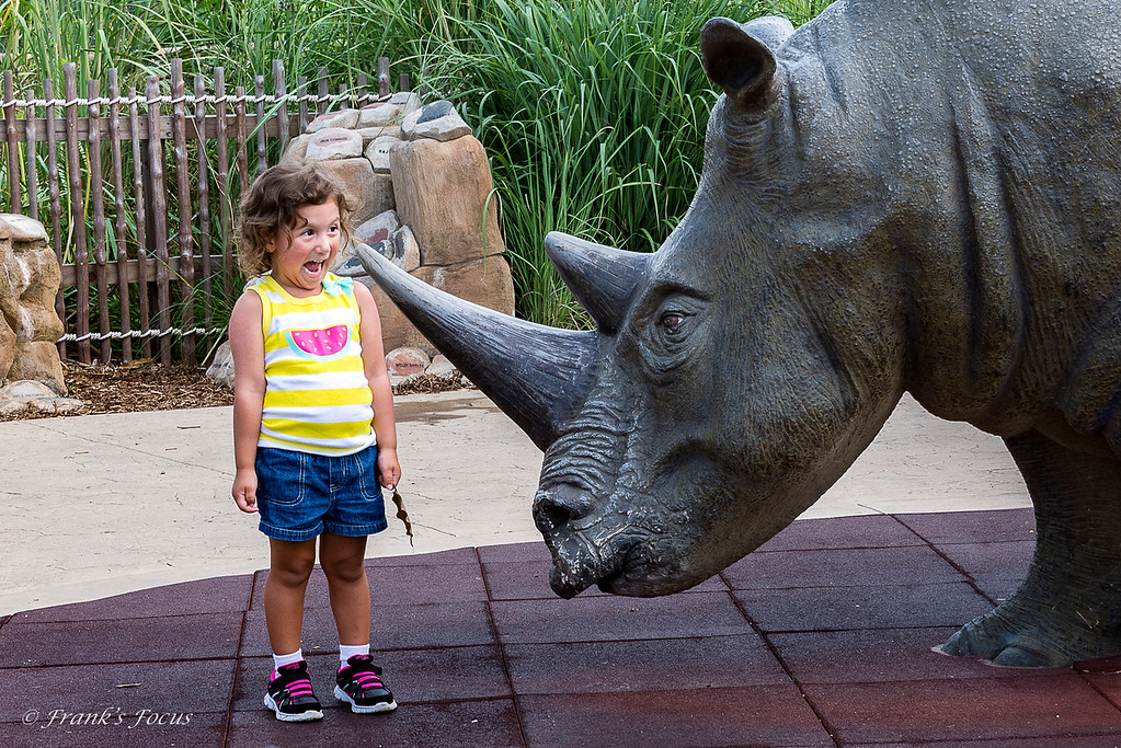September 2, 2016 -- Hamming it up for the Rhino