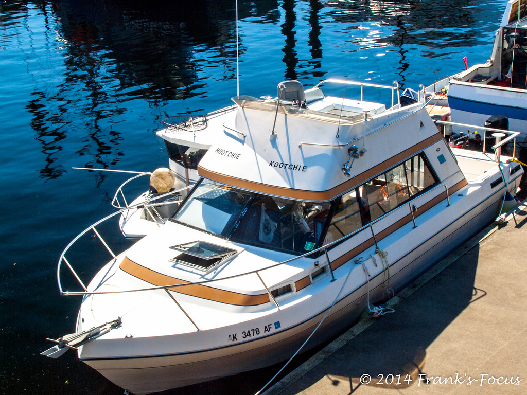 """May 14, 2014 -- The """"Hootchie-Kootchie"""" anchored at dock in Ketchikan, Alaska -- with a name like that, it makes one wonder what goes on aboard this vessel.  :-)"""