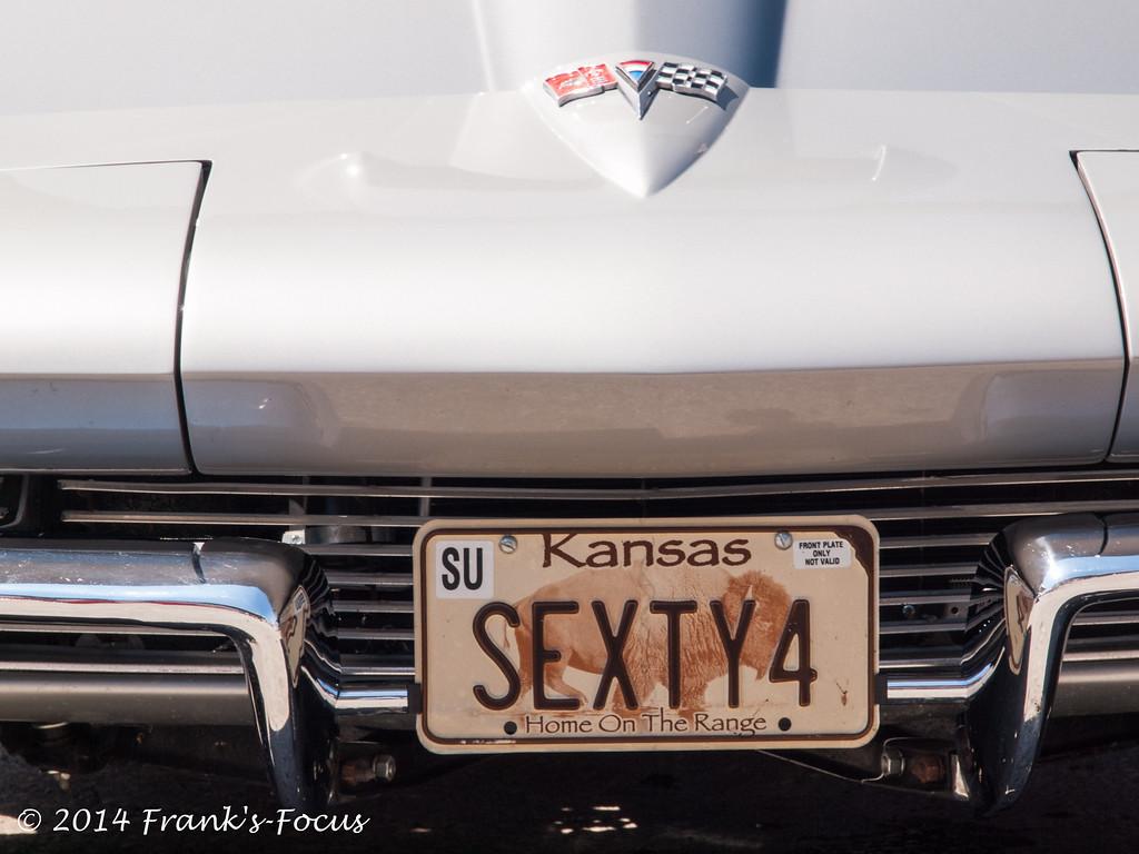"April 30, 2014 -- '64 Corvette with ""vanity plate"""