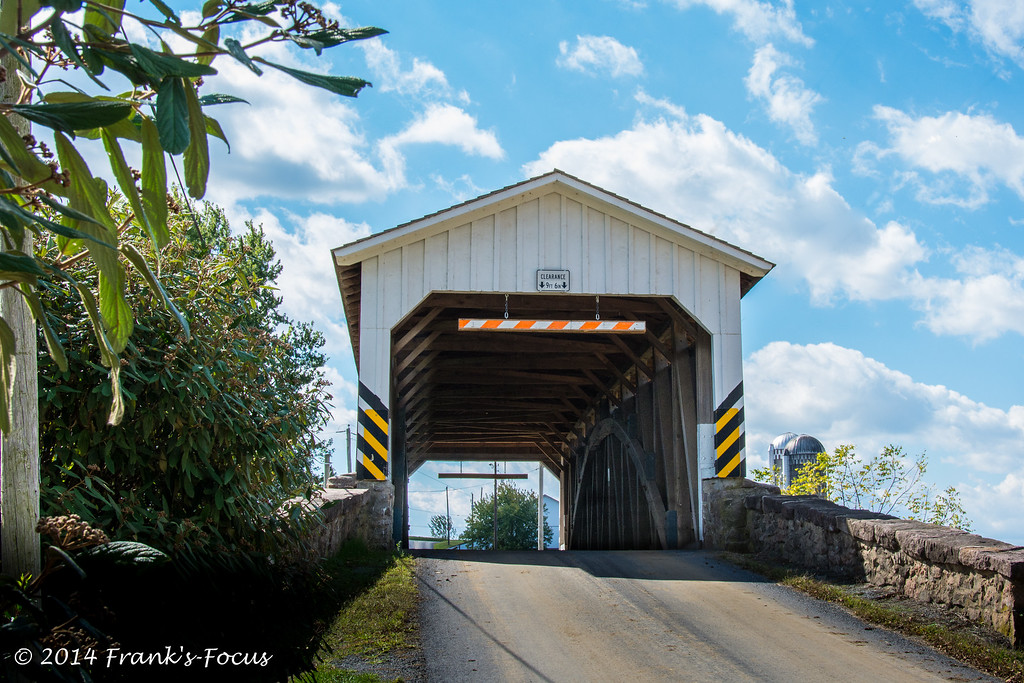 .<br /> Weaver's Mill Covered Bridge near Ephrata, Pennsylvania -- originally built in 1878.
