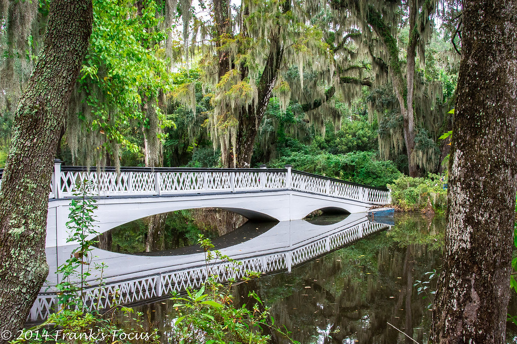 """March 10, 2014 -- One of the Garden Bridges and its reflection at Magnolia Plantation, SC.<br /> <br />  <a href=""""http://franks-focus.smugmug.com"""">http://franks-focus.smugmug.com</a>"""
