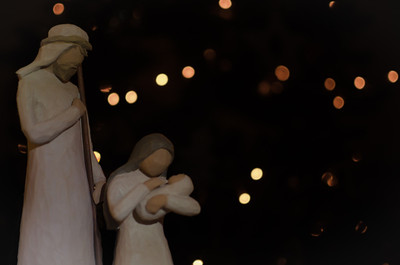 December 20 - Mary and Joseph  Again not my favourite. But I was playing around with some fairy lights for the bokeh.
