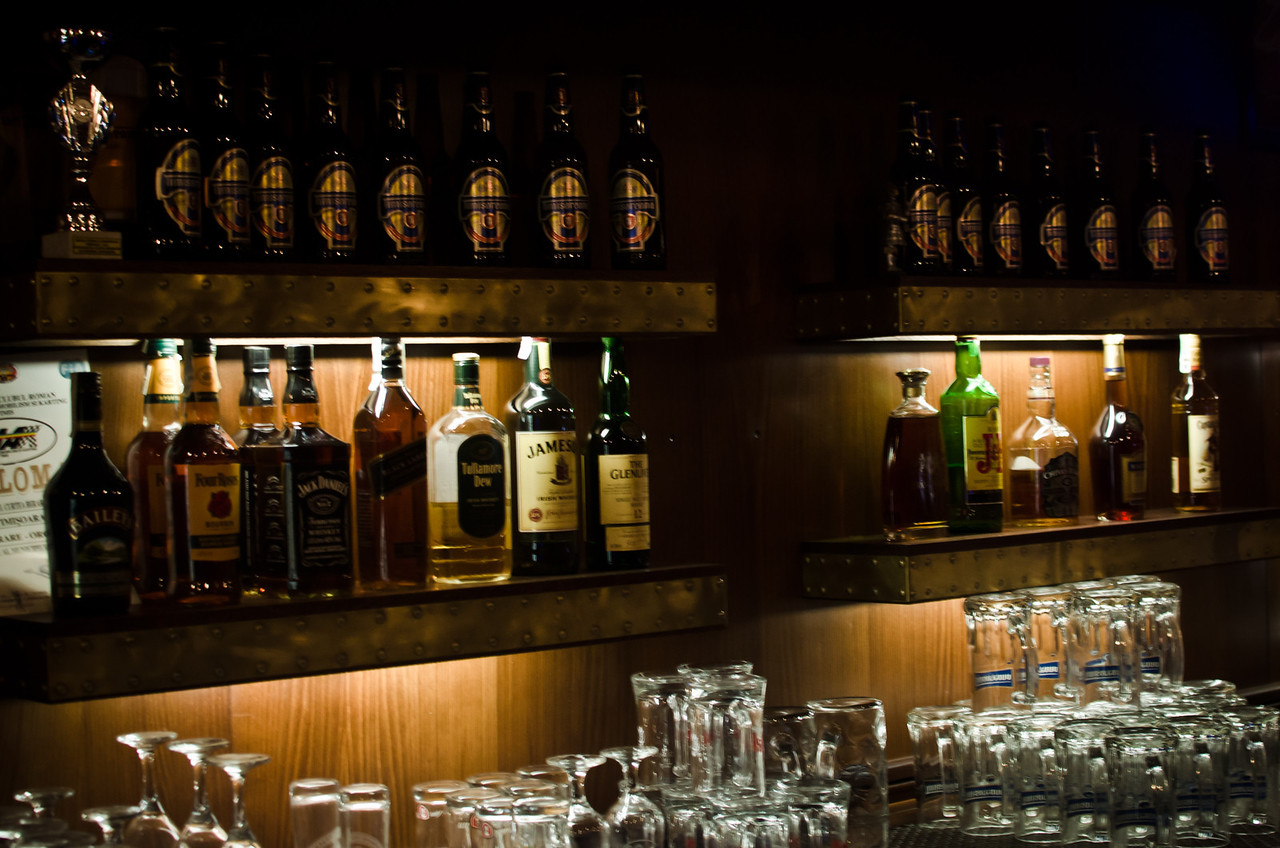 August 23 - Drink Anyone?  Took at a lovely bar in Timisoara. The food was amazing tonight.