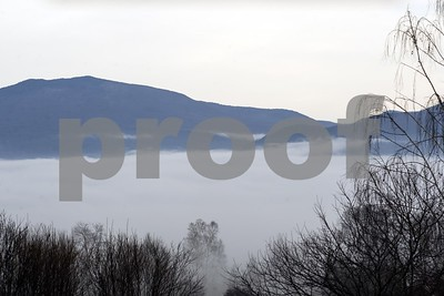 Robert Layman / Staff Photo  Fog settles in the valley over Rutland Wednesday morning.