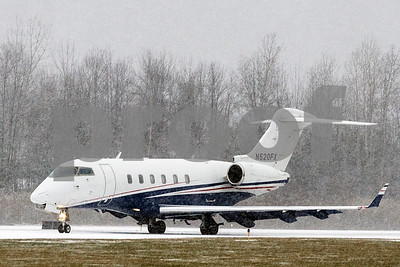 Robert Layman / Staff Photo  A small jet taxies in to Rutland Southern Vermont Regional Airport during the beginning of Thursday's snow storm.