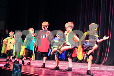 "Robert Layman / Staff Photo  Members from Miss Lorraine's School of Dance perform during their ""Dream"" dance recital Friday night on the stage at the Paramount Theater for Saturday's recital. Showing times tomorrow are 1 p.m. and 6 p.m."