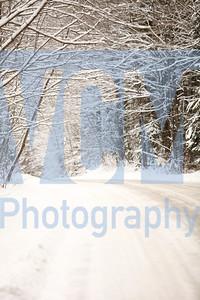 Snow blankets Stone Road