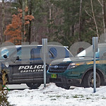 Robert Layman / Staff Photo A Vermont State Police cruiser is seen parked outside of the Castelton Police department.