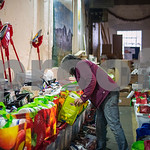 Robert Layman / Staff Photo Carol Tashie checks bags of donated goods in the warehouse behind the Rutland Area Food Co-Op to ensure all the items are accounted for. Tashie spent her afternoo ...