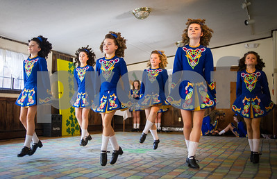 Robert Layman / Staff Photo Performers from the Geraldine School of Irish Dancing take to the floor at the Summit Lodge in Killington Friday afternoon. The group, who flew to the US from County Kildare, Ireland gave performances and led workshops to celebrate St. Patricks Day.
