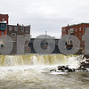Robert Layman / Staff Photo The falls in Middlebury flow heavy as waters from the melting snow make their way to the Otter Creek.