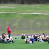Robert Layman / Staff Photo The Rutland High School Track and Field team exercises during practice at Alumni Field Tuesday afternoon.