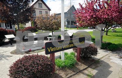 Robert Layman / Staff Photo  The Rutland County Vietnam Veterans Memorial seen here Friday May 13, 2017.