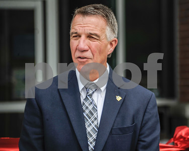 Robert Layman / Staff Photo Vermont Governor Phil Scott speaking at the opening ceremony for the Rutland Regional Medical Center's new emergency room, June 29, 2017.