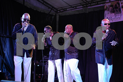 """Robert Layman / Staff Photo The Trammps Perform """"Hold Back the Night,"""" during the Friday Night Live concert in Rutland."""