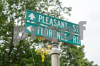 Robert Layman / Staff Photo Pleasant Street and Florence Road signs in Proctor.