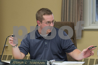 Robert Layman / Staff Photo Joshua C. Terenzini, at Rutland Town selectboard meeting Tuesday, September 5, 2017.