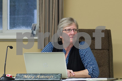 Robert Layman / Staff Photo Mary Ashcroft, at Rutland Town selectboard meeting Tuesday, September 5, 2017.