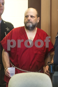 Robert Layman / Staff Photo  Randal Johnson during his arraignment in Rutland Criminal Court September 19, 2017.