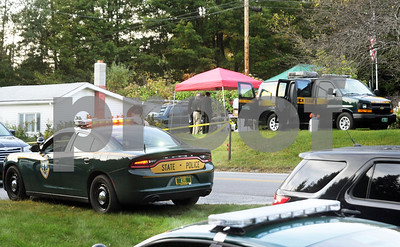 Robert Layman / Staff Photo Crime scene on Upper Cold River Road in Shrewsbury, photographed September 21, 2017.