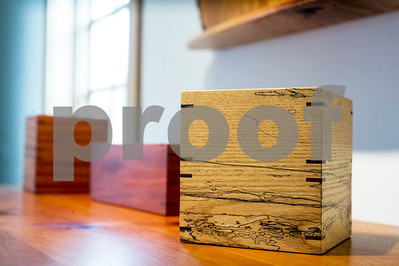 Robert Layman / Staff Photo  A spalted wood tissue box by Bob Gasperetti.