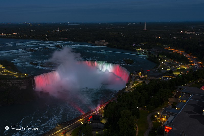 N is for Niagara Falls at Night