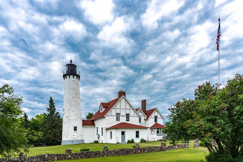 November 6, 2018 -- Point Iroquois Lighthouse