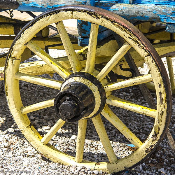 """W"" is for Wood Wagon Wheel"
