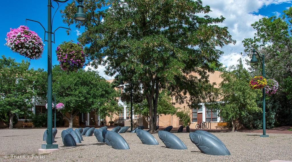 April 11, 2018 -- 'Santa Fe Current' Park Sculptures