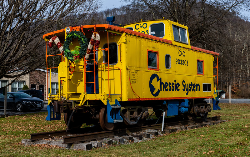 Decorated Caboose