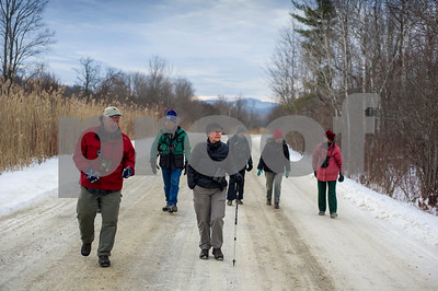 Robert Layman / Staff Photo Rutland County Aubudon Society on a monthly walk around the West Rutland Marsh Thursday morning, Jan. 11, 2018.