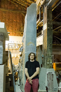 Sean Hunter Williams poses for a portrait in his Barre studio on Monday.  Josh Kuckens/Staff Photo