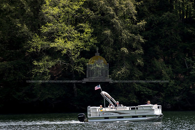 Boaters enjoy breezy weather on Greenwood Lake in Woodbury on Sunday.  Josh Kuckens/Staff Photo