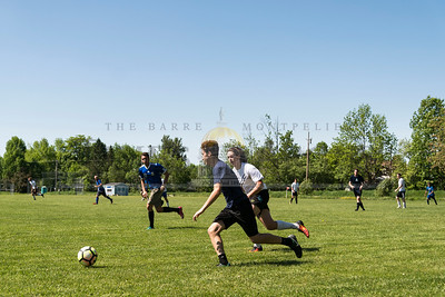 Hardwick takes on Craftsbury on Sunday in Central Vermont Soccer League action.  Josh Kuckens/Staff Photo