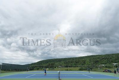 Stowe hosts U-32 Tennis on Tuesday afternoon.  Josh Kuckens/Staff Photo
