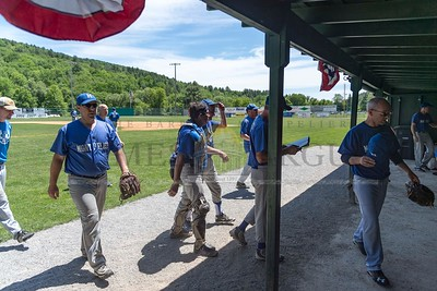 Montpelier hosts Mad River in Senior League baseball action at the Montpelier Recreation Fields on Sunday.  Josh Kuckens/Staff Photo