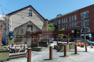 Montpelier's Pocket Park on Main Street, a popular lunch spot, is seen on Monday.  Josh Kuckens/Staff Photo