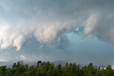 Severe storms approach Montpelier from the west on Monday afternoon, as seen from North street.  Josh Kuckens/Staff Photo