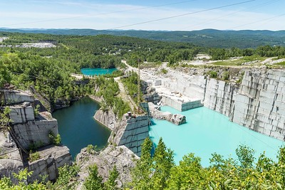 Different hues of blue and green are seen at the quarries in Graniteville on Tuesday.  Josh Kuckens/Staff Photo