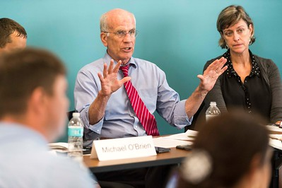Rep. Peter Welch meets with community members on Monday at Downstreet Housing in Barre to hold an Opioid Roundtable discussion.  Josh Kuckens/Staff Photo