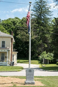The Barre Lion's club donated a new flagpole to Currier Park, seen Tuesday.  Josh Kuckens/Staff Photo