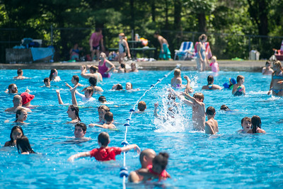 The Montpelier pool held a free family day Tuesday as citizens flocked to escape the heat.  Josh Kuckens/Staff Photo