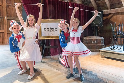 (L to R) Clarise Fearn, Victoria Fearn, Breige Riley and Emma Ryley pose for a photo at the Skinner Barn on Tuesday.  Josh Kuckens/Staff Photo
