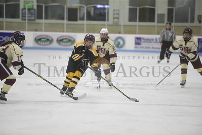 Spaulding vs Harwood girls hockey