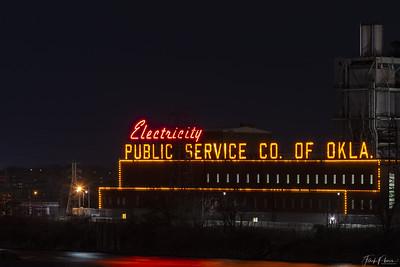 May 21, 2019 -- Electricity at Night