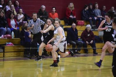 Northfield vs Stowe girls basketball